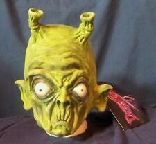 UFO SPACE GREEN ALIEN MONSTER MASK COSTUME NEW DU030