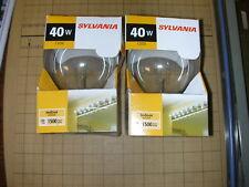 SYLVANIA 14283 40G25/RP INDOOR 40 WATT 40W CLEAR GLOBE LIGHT BULB PACK OF 2