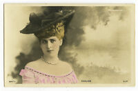 c 1902 French Theater Beauty MELLE CARLIER Glamour photo postcard