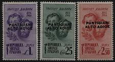 Partigiani Alto Adige - 3  francoboll differenti  nuovi
