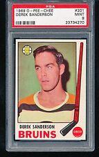 1969 OPC O-Pee-Chee DEREK SANDERSON #201 PSA 9
