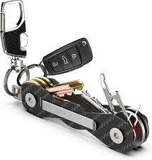 Arfkey Carbon Fibre Compact 28 Key Organiser Premium Heavy-Duty Keychain Holder