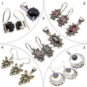 Silver 925 REAL SMOKY QUARTZ Gem & Four Other Women's Jewelry Set Wholesale Lot