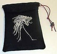 Silver Tribal Dragon Dice Bag Gallant Hand's Gamers Gear GAMING SUPPLY BRAND NEW