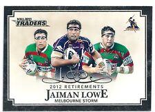 2013 NRL Traders 2012 Retirements (R7/10) Jaiman LOWE Melbourne Storm