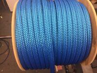 """5//8"""" polyester double braid rope white or white flecks 300 feet"""