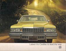 CADILLAC 1977 USA delle vendite sul mercato opuscolo SIVIGLIA Fleetwood Deville Eldorado