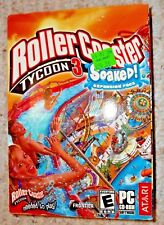 RollerCoaster Tycoon 3 Soaked Expansion Pack PC - Sealed Box - Free Shipping!