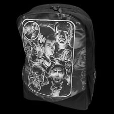 DARKSIDE UNIVERSAL MONSTERS PRINTED BACKPACK. CLASSIC HORROR. DRACULA. WOLFMAN.