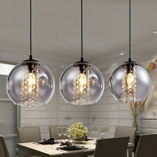 Modern Crystal Glass Ball Ceiling Light Pendant Lamp LED  Kitchen Bar Chandelier