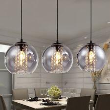 Modern Crystal Glass Ball Ceiling Light Pendant Lamp LED Kitchen Bar Chandelier