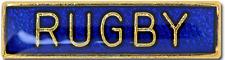 Rugby Bar Pin Badge in Blue Enamel
