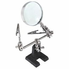 Easy-carrying Third Hand Tool Stand with 5X Magnifying Glass 2 Alligator Q3H6