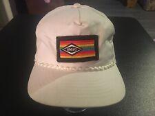 vtg 80s retro Dana Upside Down Rainbow Patch Trucker Hat Cap Racing Auto Parts