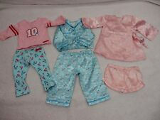 American girl doll pajama outfit lot of 3