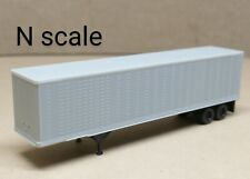 Undecorated 45' trailer N scale Atlas gray unpainted custom paint TOFC truck RR
