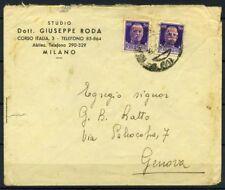 RSI e Luogotenenza 1944 Sass. 493 Busta 40% Imperiale