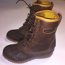"LaCrosse Uplander 10"" Waterproof Hunting Boots Leather and Rubber Brown Men's 7"