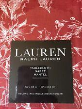 RALPH LAUREN RED TABLECLOTH - 60X84 in