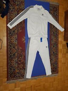 Mens Adidas Originals M White Beckenbauer Tracksuit Jacket And Pants