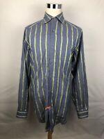 Robert Graham Multicolor Striped Mens Long Sleeve Button Front Shirt XL