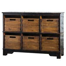 Horchow Mahogany STORAGE BIN CUPBOARD Hobby Black Cabinet Removeable Wood
