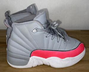 Nike Air Jordan 12 Retro Racer Pink Wolf Grey 510816-060 Kid's Shoes Size 11C