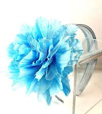 ELEGANT CHUNKY BLUE HEADBAND UNIQUE BLUE FLOWER STUNNING BRAND NEW (CL5)