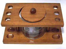 Pipe Rack  Holds 6 Pipes with  Glass Humidor and 129 grams of Tobacco