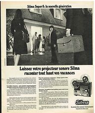 Publicité Advertising 1974 Le Projecteur Sonore Silma Super 8
