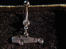 IMCA modified outlaw dirt track auto racing jewelry belly ring