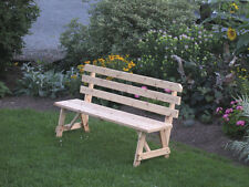 Outdoor 2 Foot Traditional BACKED BENCH ONLY!!! *Unfinished Pine* Amish Made USA