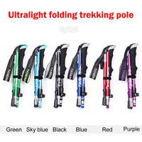 Anti Shock Nordic Walking Sticks Pole Hiking Trekking Telescopic Cane Walking *
