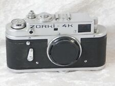 Vtg Zorki 4k USSR RUSSIAN 35mm Camera Body ONLY Leica Copy
