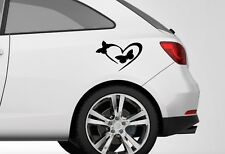 BUTTERFLY HEART 2X CUTE VINYL DECAL STICKER CAR VAN WALL ANY SMOOTH SURFACE