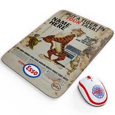 Personalised Esso Tiger Mouse Mat Petrol Garage Car Motor Mechanic Retro OC20