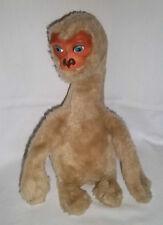 """1982 RUSHTON 14"""" Plush Rubber Faced ET Extra Terrestrial Vtg Stuffed Animal E T"""