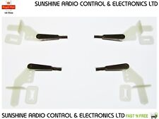 4 X RC Glider Surface Control Horns & M2 Clevis Snap Links Elevator Rudder Flaps