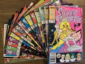NM+ Avg Silver Surfer 1 2 3 4 5 6 7 8 9 10 11 12 13 14 15 Lot High-Grade Set Run