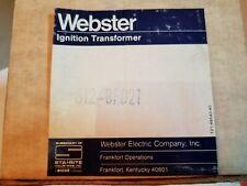 Webster  612-8F021 Ignition transformer