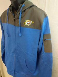 Neu Oklahoma Stadt Thunder Herren Größe L Groß Reißverschluss Kapuze Jacket