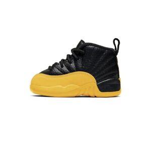 Nike Air Jordan Retro 12 Black and Yellow University Gold Infant Toddler TD Size
