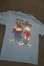 Vtg 90s Looney Tunes Tshirt Bugs Bunny Taz 1993 Biggie 2Pac Yeezy Kanye RARE S