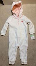 Carter's Baby Girl Animal Hooded Microfleece Jumpsuit- 18M - NEW