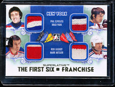 13-14 ITG SUPERLATIVE FIRST 6 ESPOSITO PARK GILBERT MESSIER QUAD PATCH GOLD 1/1