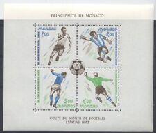 MONACO bloc 21 - COUPE DU MONDE DE FOOTBALL de 1982 ** NEUF LUXE
