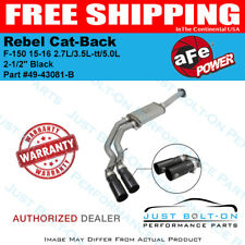"aFe Rebel Series 2-1/2"" Cat-Back Black F-150 15-16 2.7L/3.5L-tt/5.0L #49-43081-B"