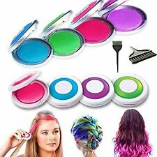 3 Boxes Hot Huez Temporary Hair Chalk 4 Funky Neon Party Colours Dye Girls Adult