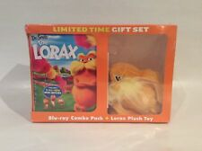 DR. SEUSS THE LORAX BLU-RAY COMBO PACK + LORAX PLUSH TOY  *Brand New Sealed*