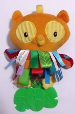 """Taggies WHoo Loves You Teether Rattle Owl Fidget Baby Toy Beanie Plush 10"""""""